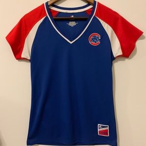 Majestic Tops - ⚾️ Majestic Women's CUBS V-Neck Jersey